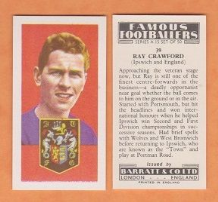 Ipswich Town Ray Crawford England 39